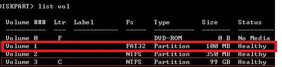 таблица разделов на UEFI GPT компьютере