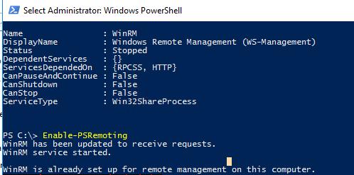 Enable-PSRemoting включить и настроить winrm в Windows