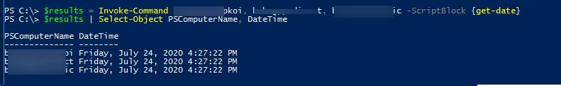 Invoke-Command вернуть результы с каждого компьютера через PSComputerName