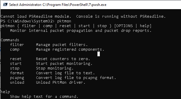Packet Monitor (PktMon) сниффер сетевого трафика в Windows