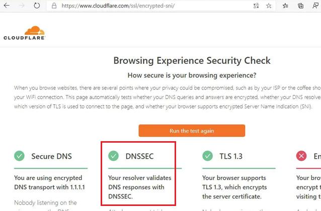сервис проверки поддкржки dns over https