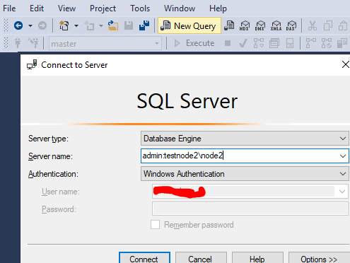 sql management studio подключение в режиме Dedicated Admin Connection