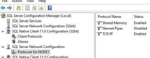 Конфігурація мережі SQL Server