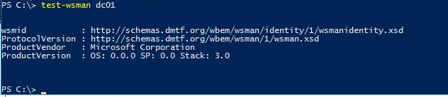 Test-WsMan - проверить работу winrm на удаленном компьютере