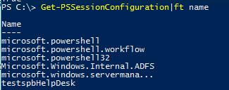 Get-PSSessionConfiguration