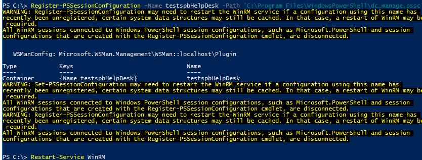 Register-PSSessionConfiguration