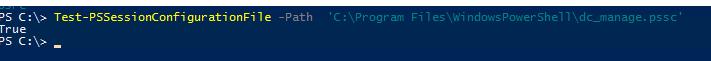 Test-PSSessionConfigurationFile