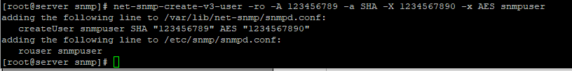 создать пользователя для snmpv3 net-snmp-create-v3-user