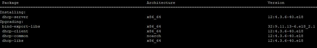 установка dhcp-server в centos