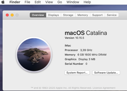 macOS 10.15.5 Каталіна