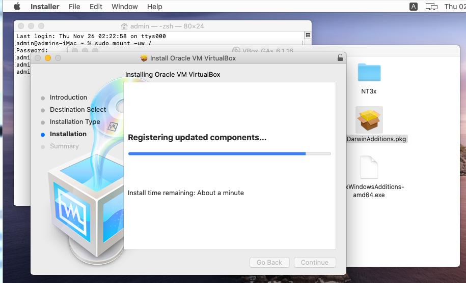 установка oracle Guest Tool в macOS Catalina на VirtualBox