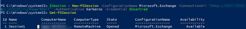 New-PSSession Microsoft.Exchange - віддалене підключення до on-prem exchange з powershell