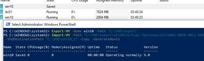 import-vm командлет PowerShell