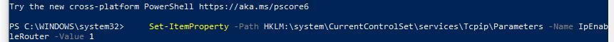 IpEnableRouter включити маршрутизацію в windows через реєстр