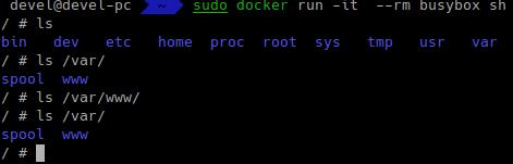 linux команды в docker образе busybox