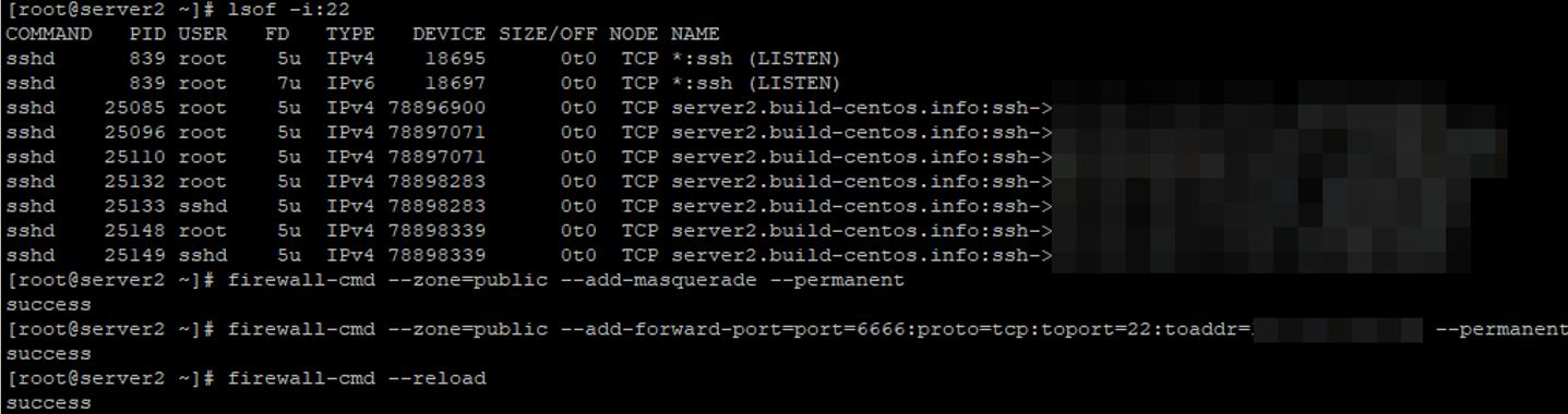 настройка port forwarding порта в linux с помощью firewalld