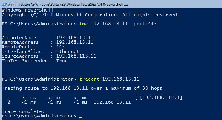 перевірка маршрутизації між декількома IP підмережами в hyper-v