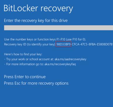 bitlocker - ідентифікатор ключа відновлення