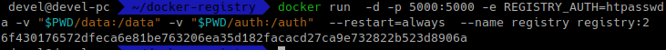 docker registry защита с помощью basic authentication