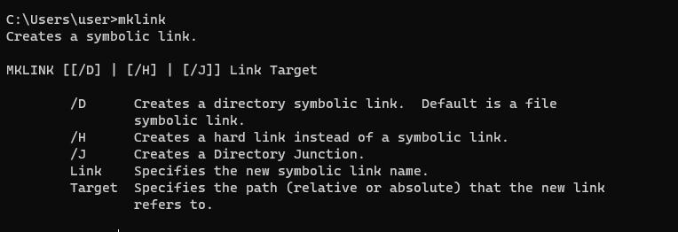 mklink утилита для создания симлинков в windows
