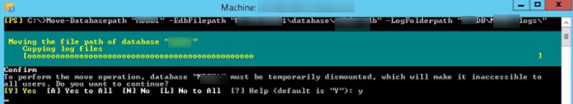 Move-DatabasePath перенесення бази exchnage з транзакційними балками на інший диск