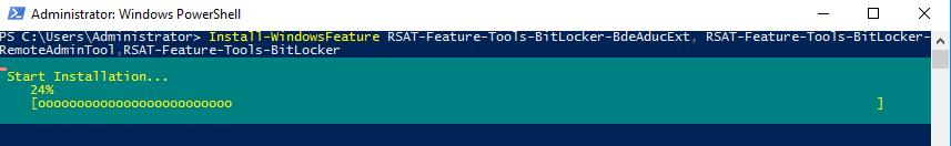 powershell установка компонентів управлінняі bitlocker в домені (RSAT-Feature-Tools-BitLocker)