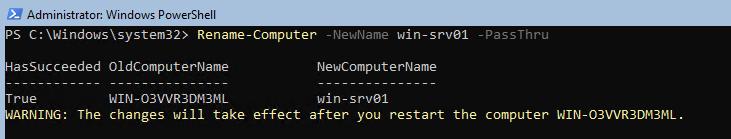 Rename-Computer задати ім'я через powershell