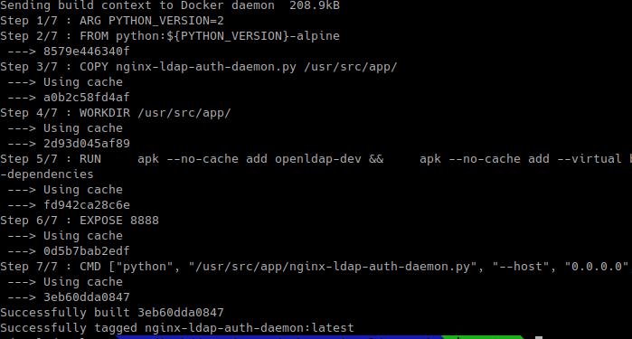 установка контейнера nginx-ldap-auth