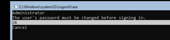 задать пароль администратора в server core