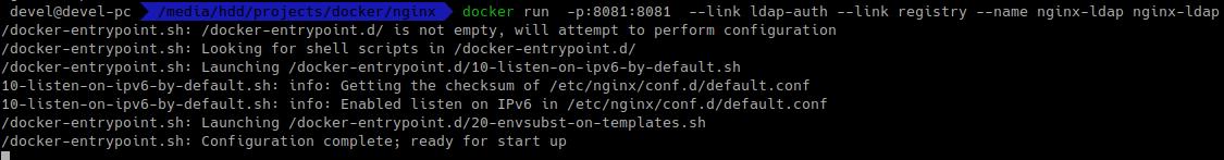 запуск nginx в контейнері з авторизацією в active directory