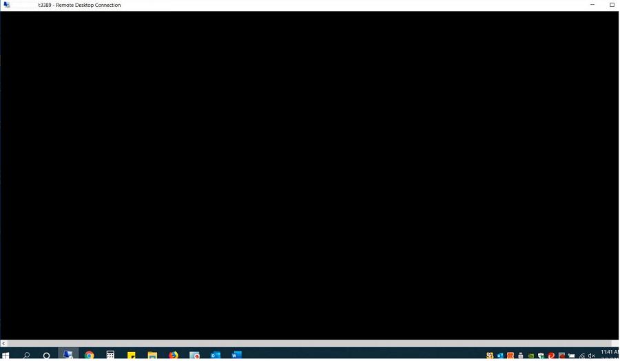 черный экран вместо рабочего стола в RDP сессии