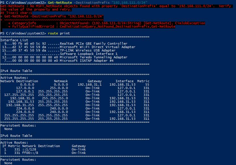 маршут автоматически удаляется после отключения от vpn сервера в windows 10