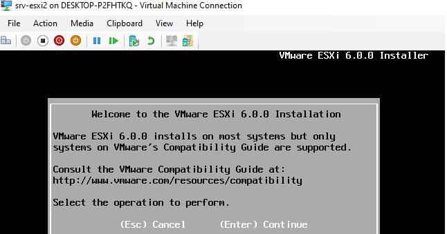 мастер установки vmware esxi