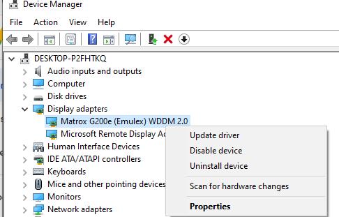 обновить видео драйверы в windows