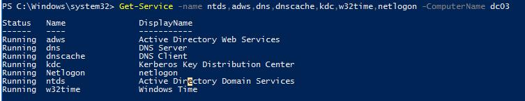 перевірка служб ADDS на контролері домену