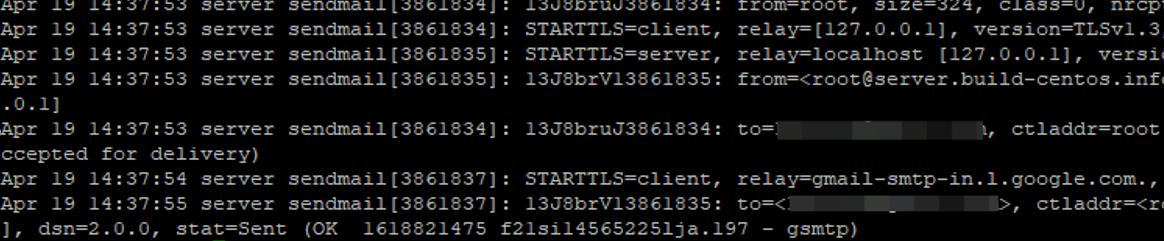 smtp логи відправки в var / log / maillog