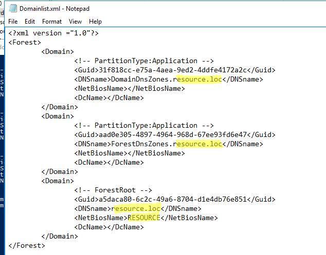 задайте новое имя домена в файле Domainlist.xml