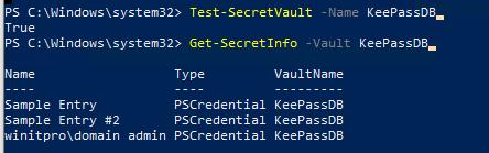 получить список сохраненых паролей в keepass с помощью powershell