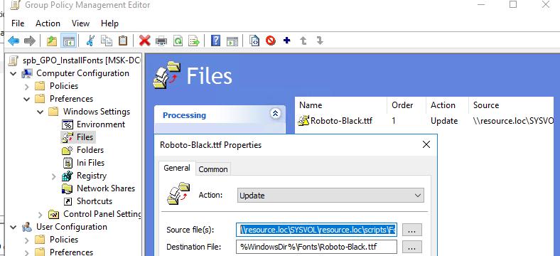 скопировать ttf файл шрифта в каталог %WindowsDir%\Fonts\