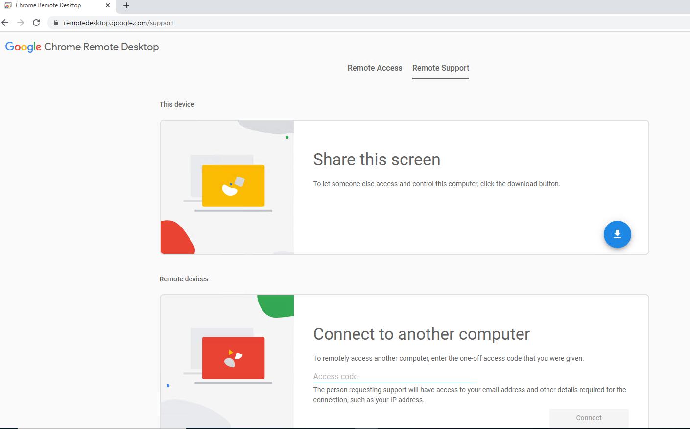 Удаленная поддержка через Chrome Remote Desktop