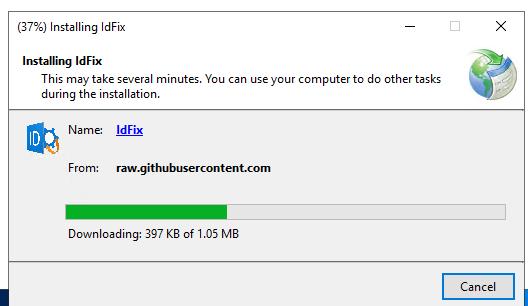 установка idfix в windows server 2019