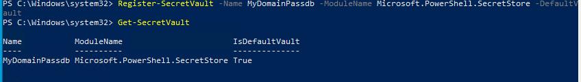 зарегистрировать хранилище паролей в windows: Register-SecretVault