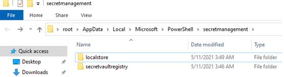 защищенное хранилище паролей windows PowerShell\secretmanagement