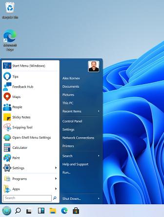 классическое стартовое меню в windows 11 (как меню пуск в windows 7)