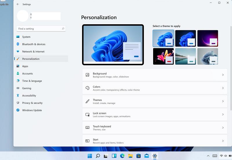новое меню settings в windows 11