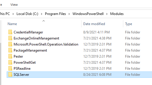 скопировать каталог с модулем powershell на офлайн компьютер