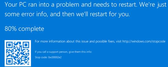 0x00002e2 ошибка загрузки контроллера домена Active Directory на Windows Server 2016