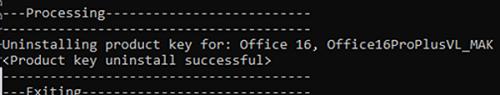 cscript ospp.vbs /unpkey - удаление лицензии office