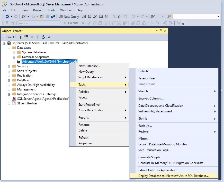 Deploy Database to Microsoft Azure SQL Database