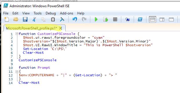 добавляем функции в профиль PowerShell Microsoft.PowerShell_profile.ps1